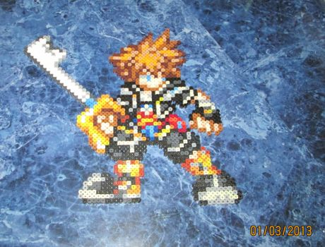 Perler Kingdom Hearts 2 Sora by rushtalion
