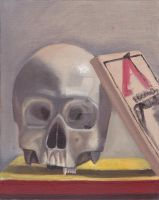 Still Life with Skull and Mousetrap by TanisaurusRex