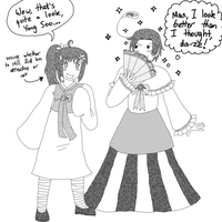 Day Six: Wearing Each Other's Clothes (+drabble!) by melonstyle