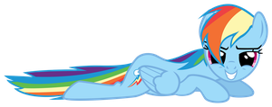 Rainbow Dash - Lying, looking at you by PoniiAndii