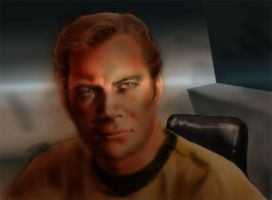 Kirk in his cabin by Emushi