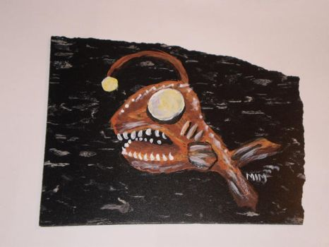Deep Sea Angler Tile by EnigmaticSerendipity