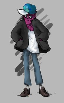 Michael Afton with some stylish clothes I guess by TigeraRainbowra