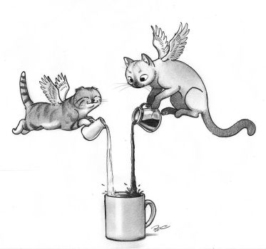 Magic Caffeine Cats by RobtheDoodler