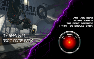 GlaDos and Hal9000 by Drayle88