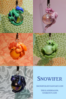 Dragon Marble Charms 2 by Snowifer