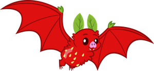 Strawberry Fruit Bat by Erccre147
