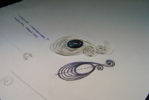 Filigree Brooch by Cailface