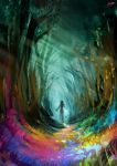 30 Minute Spitpaint ''Rainbow Forest'' by AaronGriffinArt