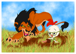 Scar vs. Chicken Little by andy-pants