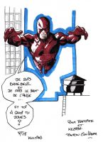 Daredevil jumping by guillomcool