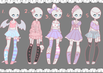Outfit Adopts #1 OPEN by Lunathyst