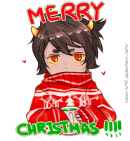 Karkat in ugly sweater. by NOAH-Senpai