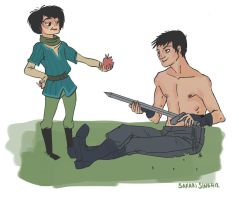 gendry and arya by SakariSingh