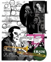 Kid Ory Collage by funnyturtle