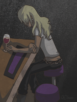 Klavier depressed at a bar by CharlieIsAMystery
