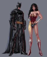 Batman and Wonder Woman by jasric