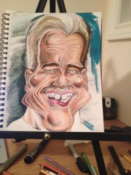 Process: Arnold Schwarzenegger Caricature 6 of 10 by AcrylicInk
