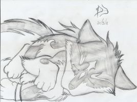 Sleeping wolf . . . by DarkWolf2011-2012