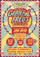 Grateful Fred's July 24th Gig Poster by RicGrayDesign