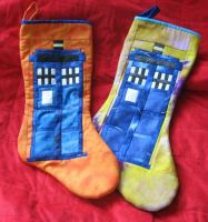 Doctor Who Stockings by toxic-zombie33