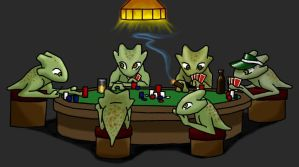 Gizka Playing Poker by Chimaera-Stormhawk