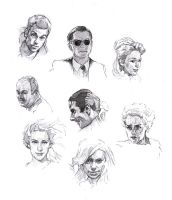 Faces sketch study 5 by SILENTJUSTICE