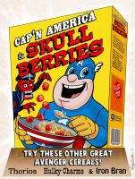 Cap'n America cereal box by andyjhunter