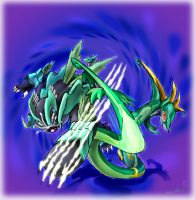 Savageshade and Serperior by TheCreationist
