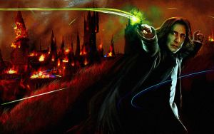 The battle of hogwarts + snape by ekr1703