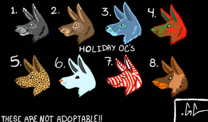 Holiday OC's VOTe[MOST VOTES WINS] by UnnamedRevMinecraft