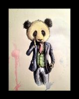 Panda Bear in a Suit by LordColinOneal