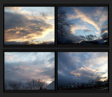 4 Framed cloud shots by StarwolfTsuname