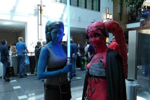 Red and Blue by Jhadin