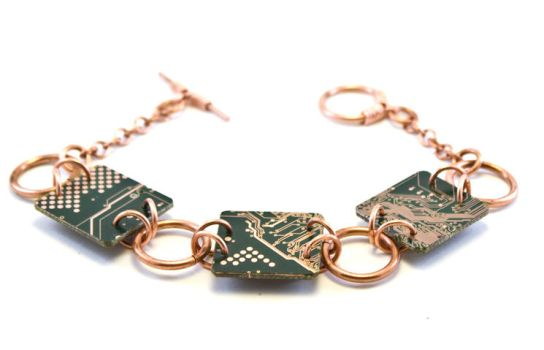 Circuit Board Bracelet - 14 by jupiter-storm