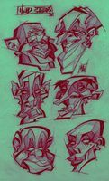 Head Studies II by Austin-Hodge