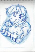 Ronnie and Baby Portrait by RuntyTiger