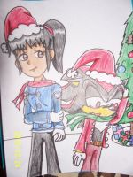 Christmas Me and Shadow by AshleyFluttershy