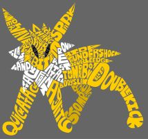 Typography Jolteon 2 Final by Stelera