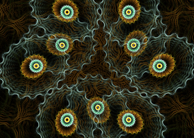 greenbrown pattern with circles by Andrea1981G