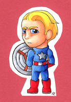 Little Captain America by SlushiOwl