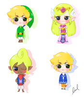 Wind Waker Babies by xMurmaid