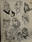 Face sketches 4 : what is a title? by Mocrasar