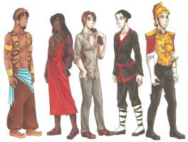 Humanized Disney Animals Male by CarmenFoolHeart