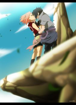 Commission: SasuSaku by annria2002