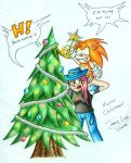 Christmas tree fire by Jammerlee