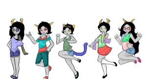 Homestuck Girls in summer attire (minus aradia) by Canada960