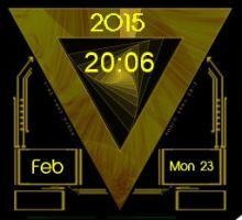 Gold Animated Clock 2.2.1 by xordes