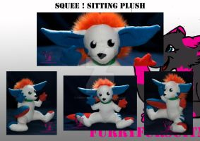 Squee sitting plush commission by FurryFursuitMaker