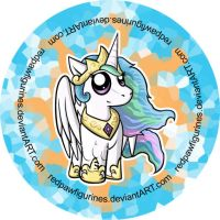 Princess Celestia Chibi Badge by RedPawDesigns